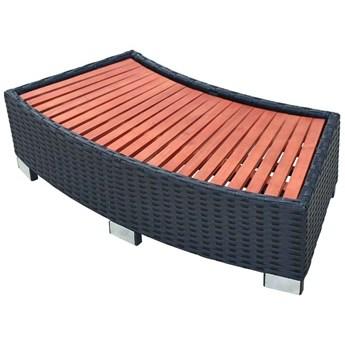 VidaXL Stopień do spa 92 x 45 x 25 cm, polirattanowy, czarny