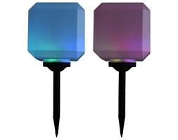 VidaXL Sześcienne lampy solarne na zewnątrz, 2 szt., LED, 20 cm, RGB