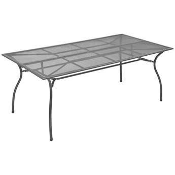 VidaXL Stół ogrodowy, antracytowy, 170x89,5x72,5 cm, stalowa siatka