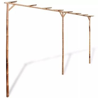 VidaXL Pergola bambusowa, 385 x 40 x 205 cm