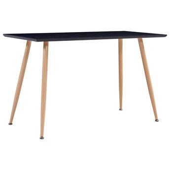 VidaXL Stół do jadalni, kolor czarny i dębowy, 120x60x74 cm, MDF
