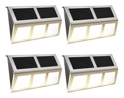 VidaXL Lampy solarne, 4 szt., ciepłe białe LED