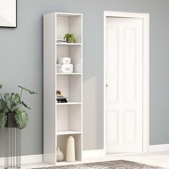 VidaXL Regał na książki, wysoki połysk, biały, 40x30x189 cm
