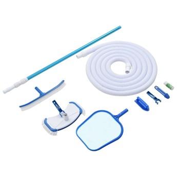 VidaXL 9-częściowy zestaw do czyszczenia basenu