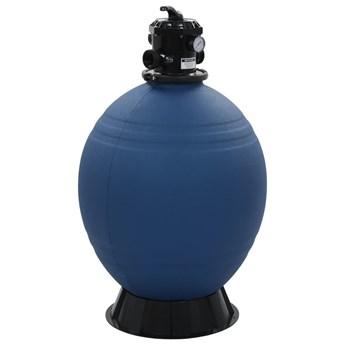VidaXL Piaskowy filtr basenowy z zaworem 6 drożnym, niebieski, 660 mm