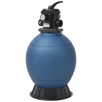 VidaXL Piaskowy filtr basenowy z zaworem 6 drożnym, niebieski, 460 mm