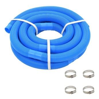 VidaXL Wąż do basenu z opaskami zaciskowymi, niebieski, 38 mm, 6 m
