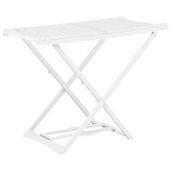 VidaXL Składana suszarka na ubrania, biała, plastikowa