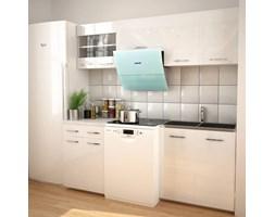 VidaXL Zestaw mebli kuchennych z okapem, 5 cz., wysoki połysk, biały