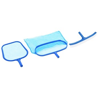 VidaXL 3-częściowy zestaw do czyszczenia basenu