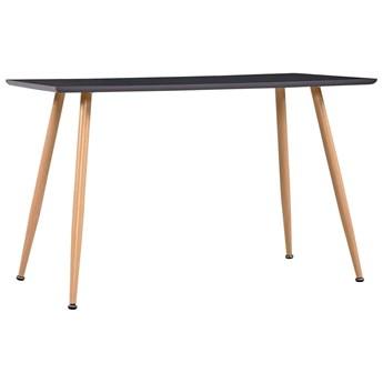 VidaXL Stół do jadalni, kolor dębowy i szary, 120x60x74 cm, MDF