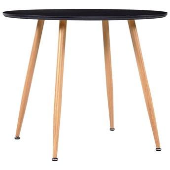 VidaXL Stół do jadalni, kolor czarny i dębowy, 90 x 73,5 cm, MDF