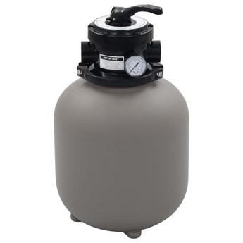 VidaXL Piaskowy filtr basenowy z zaworem 4 drożnym, szary, 350 mm