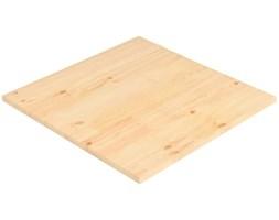 VidaXL Blat stołu, naturalna sosna, kwadratowy, 80x80x2,5 cm