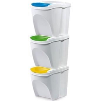 Kosz na śmieci PROSPERPLAST Sortibox IKWB20S3-S449 (3x25l) Biały