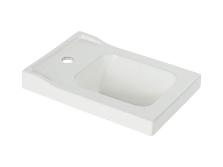 Umywalka ceramiczna Lana 44 cm Prostokątne Szkło Ceramika Kategoria Umywalki