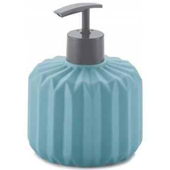 Dozownik na mydło ceramiczny 400ml Kela Origami turkusowy kod: KE-20611