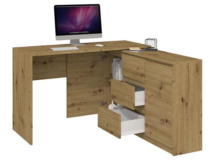 Biurko narożne z komodą Luvis 4X - dąb artisan Kategoria Biurka