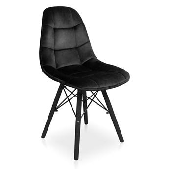 Bettso Zestaw krzeseł Fabio Velvet czarny / noga czarna - 4szt.