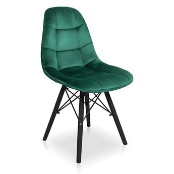 Bettso Zestaw krzeseł Fabio Velvet zielony / noga czarna - 4szt.