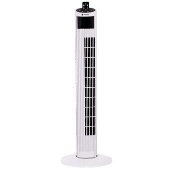 Wentylator kolumnowy 55W wiatrak domowy biały z pilotem 92 cm