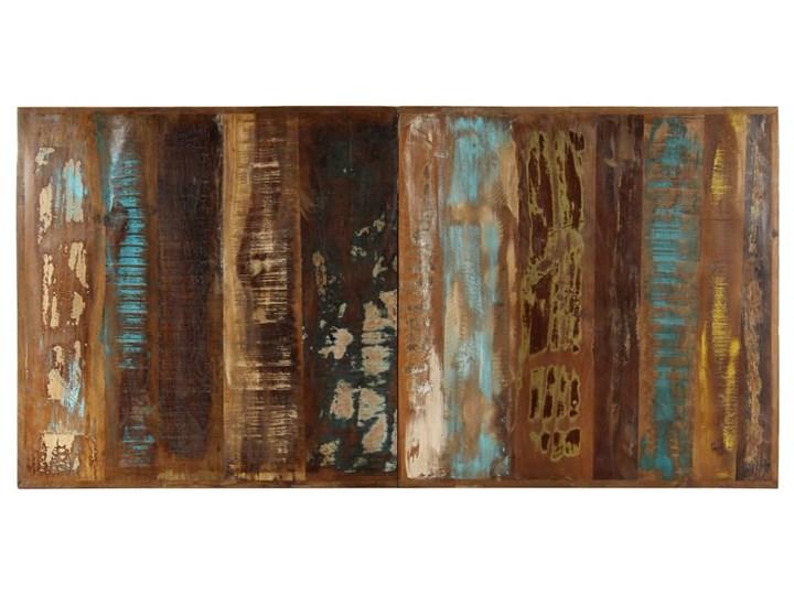 Wielokolorowy stół z drewna odzyskanego – Kalis 3X Długość 140 cm  Długość 70 cm Szerokość 70 cm Drewno Wysokość 75 cm Styl Industrialny
