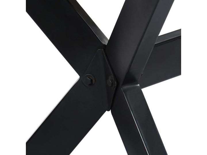 Wielokolorowy stół z drewna odzyskanego – Kalis 3X Długość 70 cm Styl Industrialny Długość 140 cm  Wysokość 75 cm Drewno Szerokość 70 cm Styl Vintage