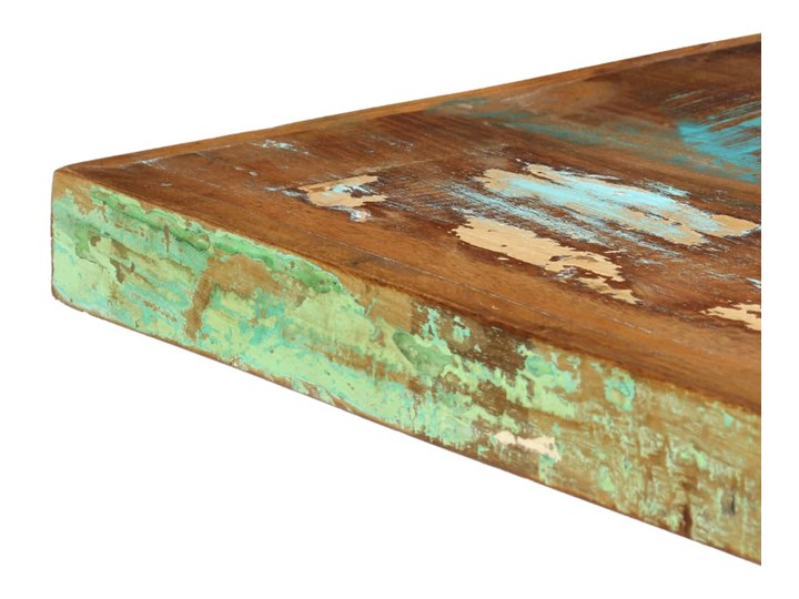 Wielokolorowy stół z drewna odzyskanego – Kalis 3X Długość 140 cm  Wysokość 75 cm Szerokość 70 cm Drewno Długość 70 cm Styl Industrialny Rozkładanie