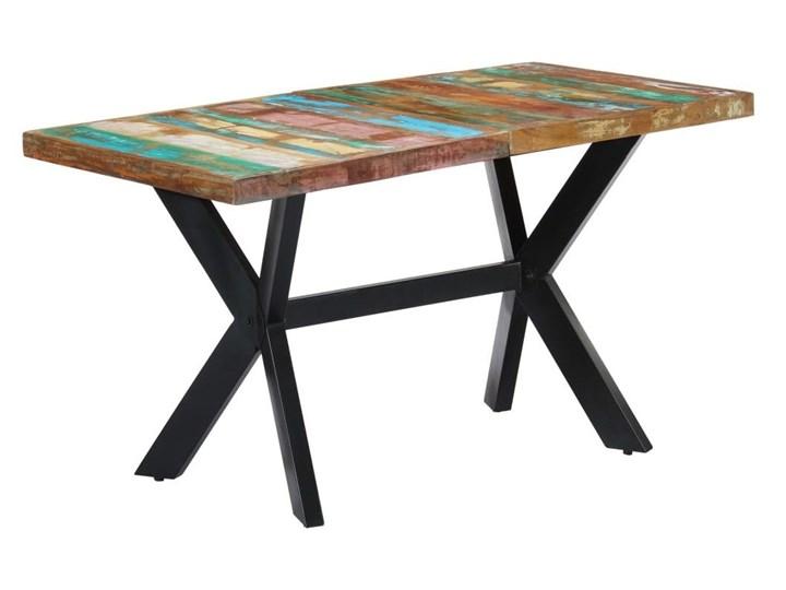 Wielokolorowy stół z drewna odzyskanego – Kalis 3X Długość 140 cm  Szerokość 70 cm Długość 70 cm Drewno Styl Vintage Wysokość 75 cm Kategoria Stoły kuchenne