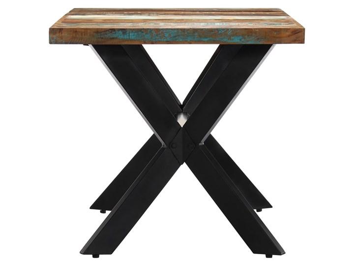 Wielokolorowy stół z drewna odzyskanego – Kalis 3X Drewno Kategoria Stoły kuchenne Szerokość 70 cm Wysokość 75 cm Długość 70 cm Długość 140 cm  Kształt blatu Prostokątny