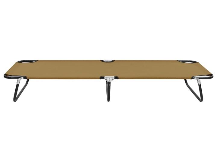 vidaXL Składany leżak, taupe, stal Składane Kategoria Leżaki ogrodowe Metal Kolor Brązowy