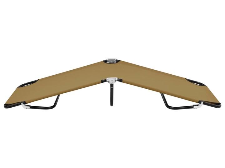 vidaXL Składany leżak, taupe, stal Składane Metal Kategoria Leżaki ogrodowe
