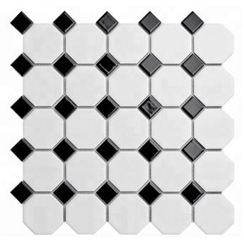 MOZAIKA OCTAGON BLACK&WHITE 30x30 cm