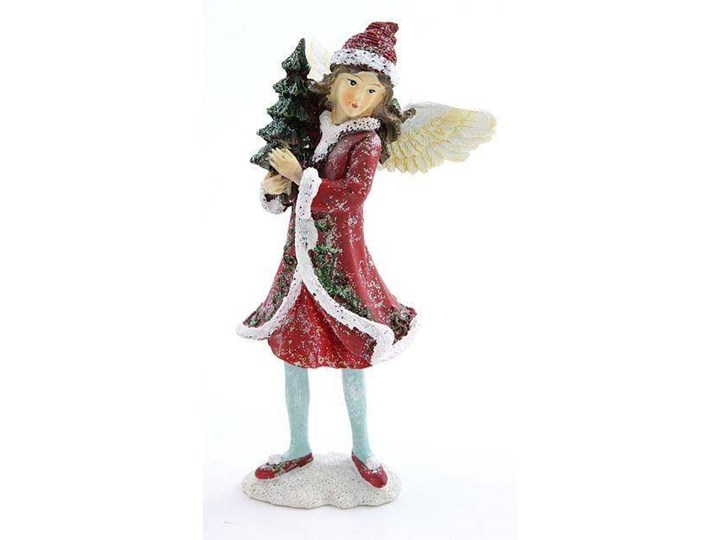 Figurka Zimowa dziewczynka z choinką 15cm UPOMINKARNIA