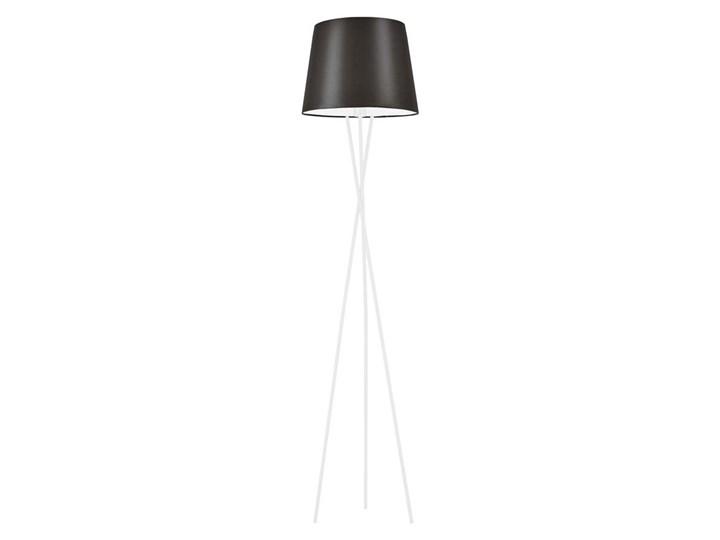 Lampa styl PRL Lampa Stojąca szara Półka podłogowa