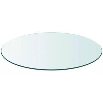 VidaXL Blat stołu, szklany, okrągły, 600 mm