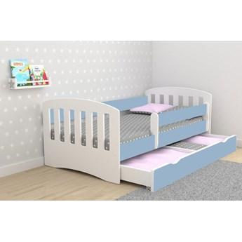 Łóżko chłopięce z materacem Pinokio 2X 80x160 - niebieskie
