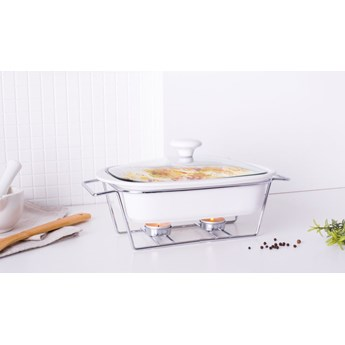 Naczynie żaro / forma do zapiekania z podgrzewaczem ceramiczne prostokątne Altom Design Mesa 1,4 l