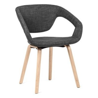 Krzesło Porto tapicerowane szary