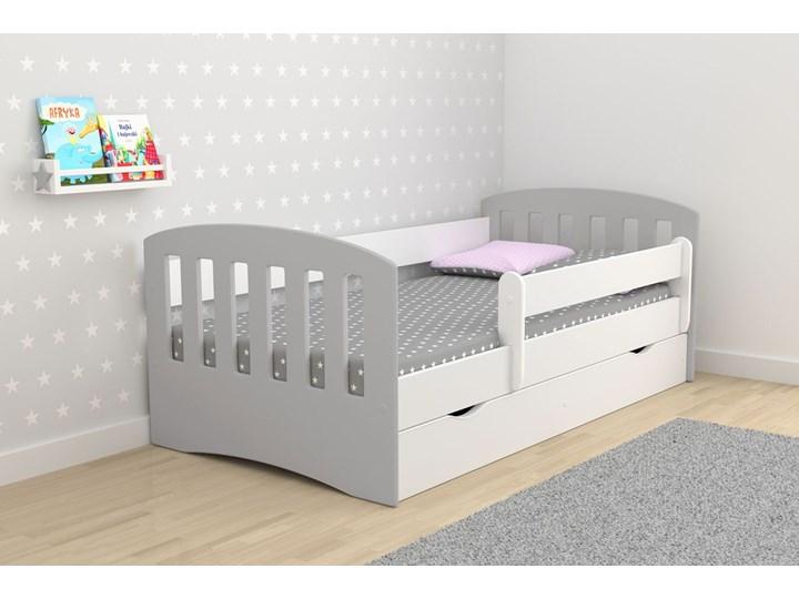 Łóżko dziecięce z barierką Pinokio 2X mix 80x160 - szare Tradycyjne Rozmiar materaca 80x160 cm
