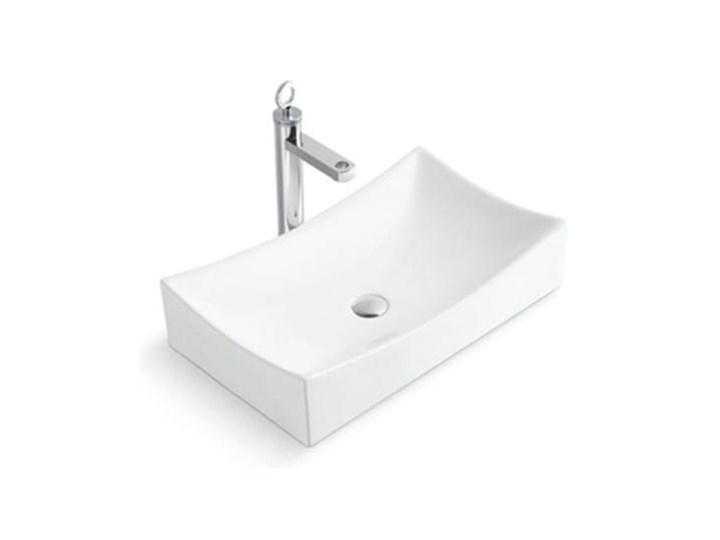 VELDMAN UMYWALKA CERAMICZNA SARA Ceramika Kategoria Umywalki Nablatowe Szerokość 44 cm Prostokątne Meblowe Kolor Biały