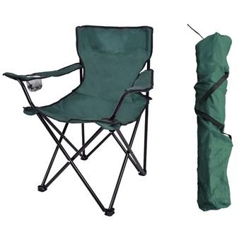 Krzesło wędkarskie HUGO składane zielone