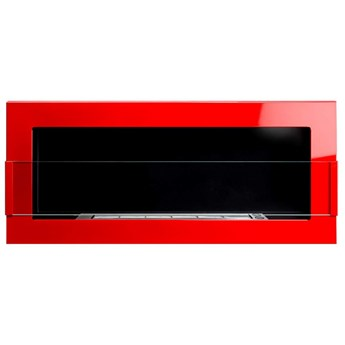 Biokominek 900x400mm Globmetal czerwony połysk z szybą kod: GMT-020