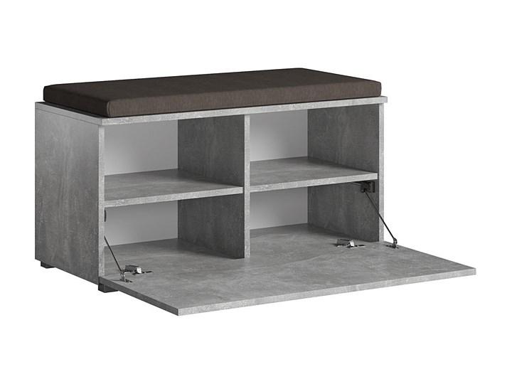 Designerska szafka na buty Adon - beton Kolor Szary Płyta MDF Styl Industrialny