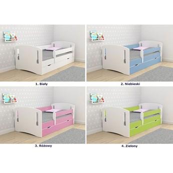Łóżko dziecięce z szufladą Pinokio 3X 80x140 - zielone