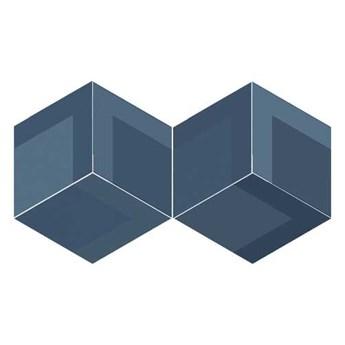 FLOW DIAMOND DECOR OLD BLUE 14x24