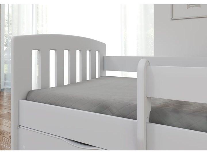 Łóżko dziecięce z materacem Pinokio 2X 80x140 - białe Tradycyjne Kolor Biały