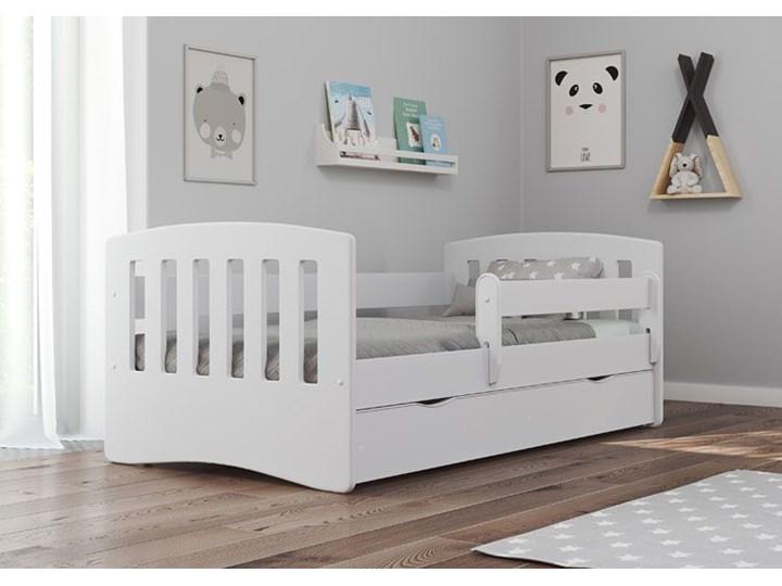 Łóżko dziecięce z materacem Pinokio 2X 80x140 - białe Tradycyjne Rozmiar materaca 80x140 cm Kolor Biały