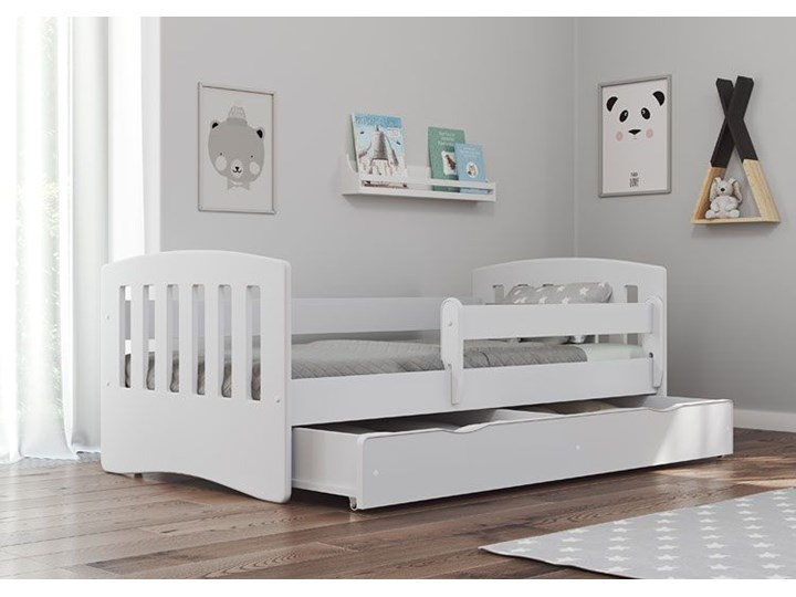 Łóżko dziecięce z materacem Pinokio 2X 80x140 - białe Rozmiar materaca 80x140 cm Tradycyjne Kolor Biały