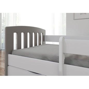 Łóżko dziecięce z barierką Pinokio 2X mix 80x160 - szare